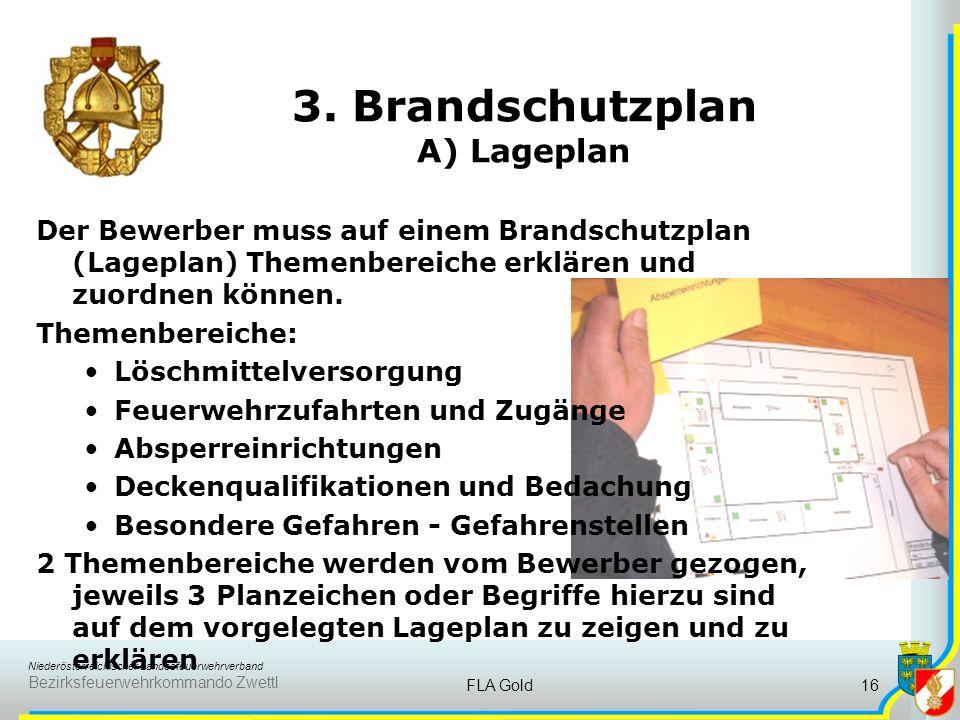 Niederösterreichischer Landesfeuerwehrverband Bezirksfeuerwehrkommando Zwettl FLA Gold15 Dem Bewerber werden 4 unterschiedliche Einsatz- bzw. Gefahren