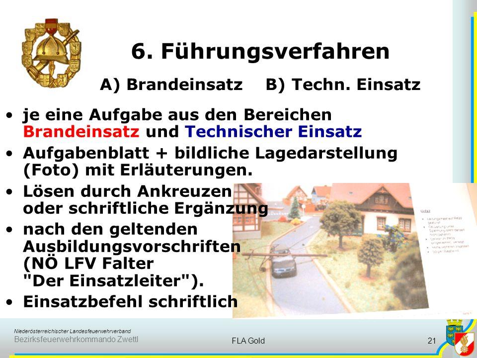 Niederösterreichischer Landesfeuerwehrverband Bezirksfeuerwehrkommando Zwettl FLA Gold20 5. Fragen aus dem Feuerwehrwesen Aus verschiedenen Fachgebiet