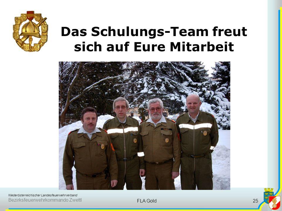 Niederösterreichischer Landesfeuerwehrverband Bezirksfeuerwehrkommando Zwettl FLA Gold24 8. Verhalten vor einer Gruppe Der Bewerber ist Gruppenkommand