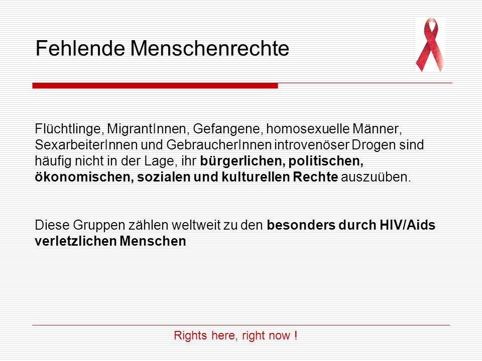 Teste und lebe mit Hoffnung Demonstration von PIUMA im Kampf um Menschenrechte Fotos: Fabian Wirnsperger