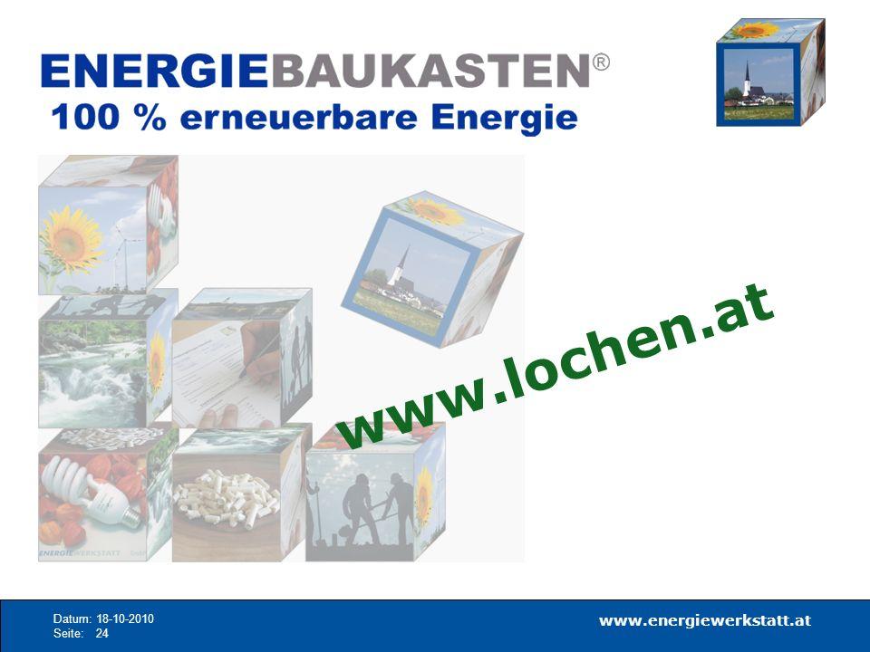 www.energiewerkstatt.at Datum:18-10-2010 Seite:24 www.lochen.at