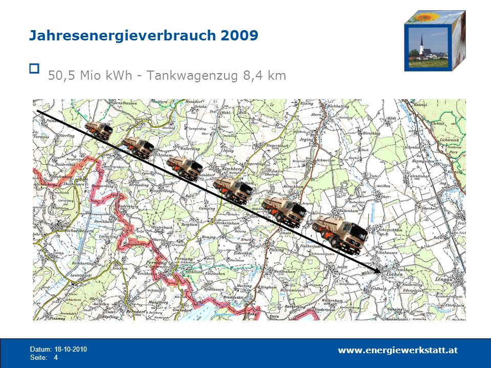 www.energiewerkstatt.at Datum:18-10-2010 Seite:5 Energieverbrauch Erhebung 2010 gesamt ca.