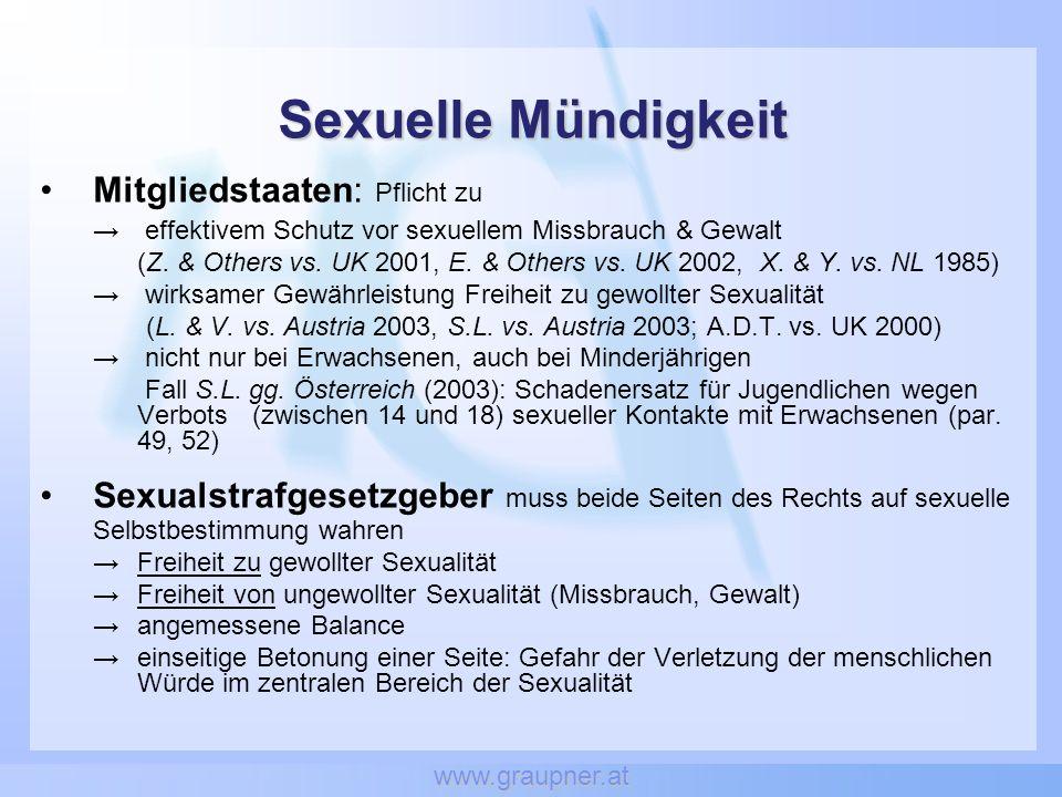 www.graupner.at Bei der Pornografie blieb es bei der Altersgrenze 18 und der Erfassung auch privater Beziehungen.