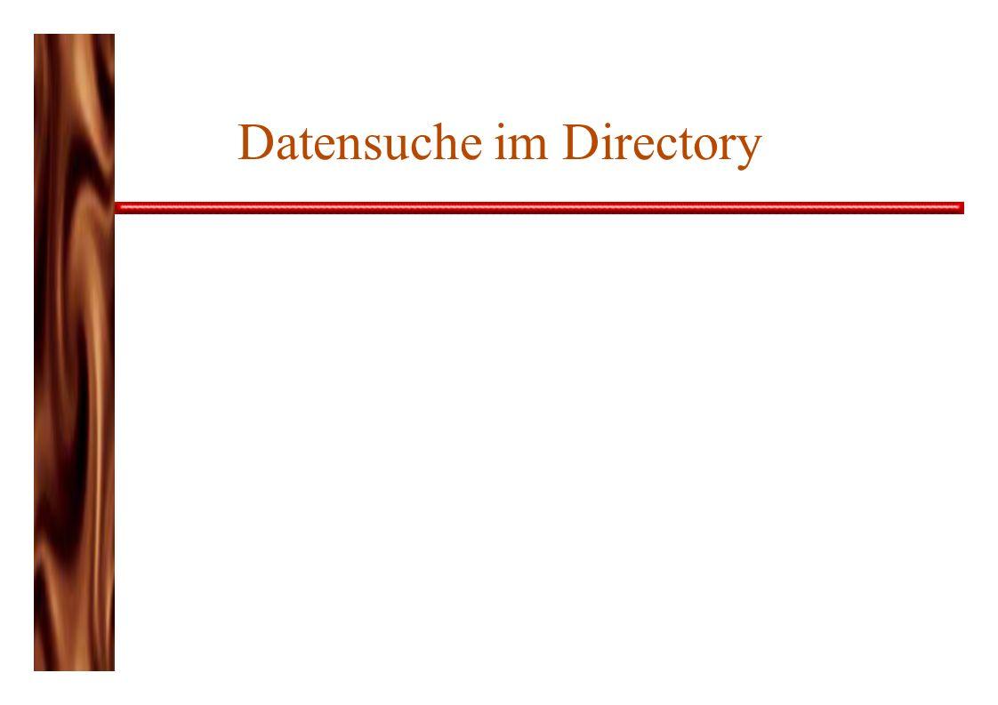 Datensuche im Directory