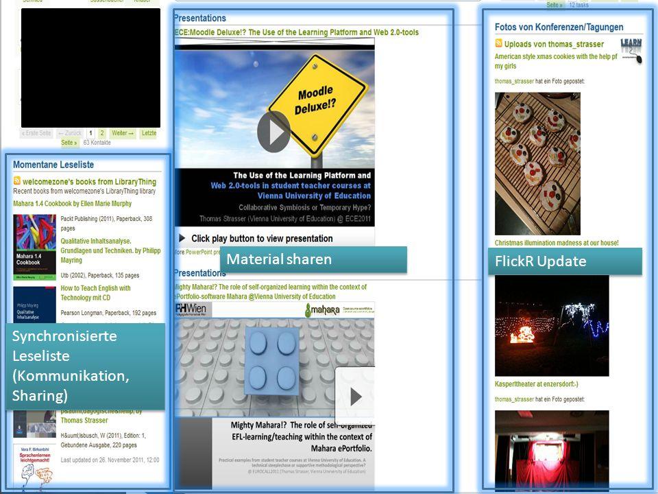 Synchronisierte Leseliste (Kommunikation, Sharing) Synchronisierte Leseliste (Kommunikation, Sharing) Material sharen FlickR Update