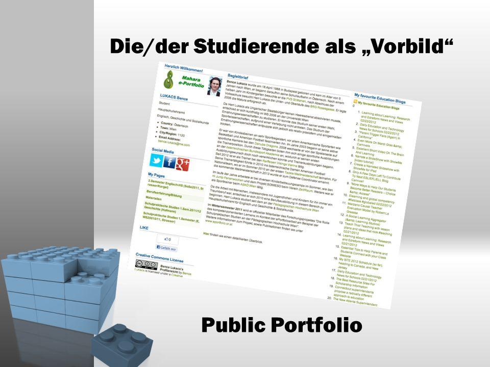 Die/der Studierende als Vorbild Public Portfolio