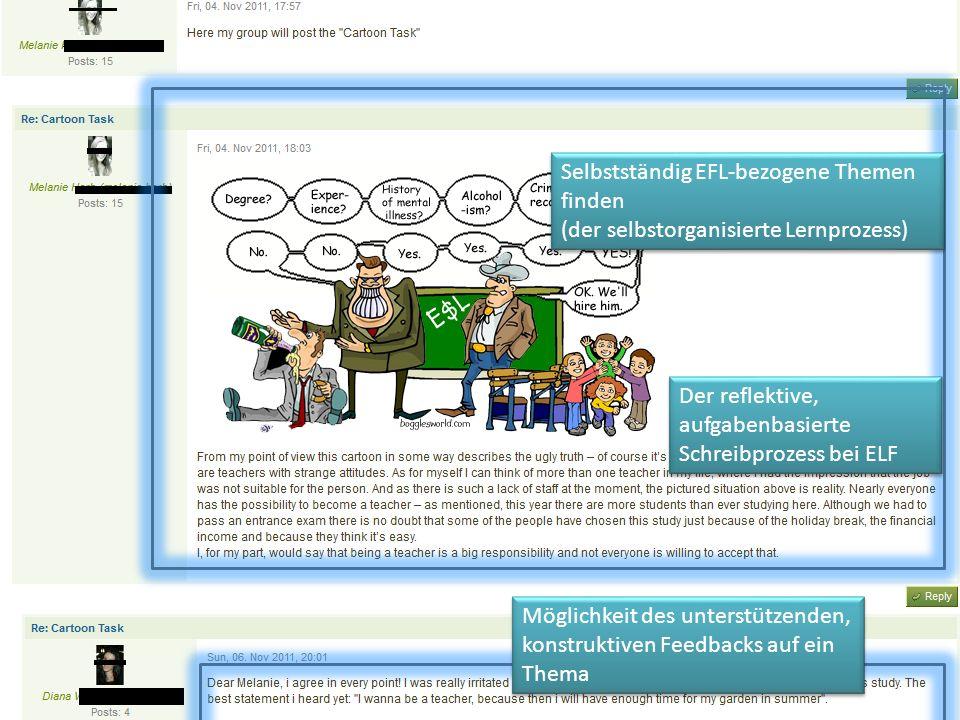 Selbstständig EFL-bezogene Themen finden (der selbstorganisierte Lernprozess) Selbstständig EFL-bezogene Themen finden (der selbstorganisierte Lernpro