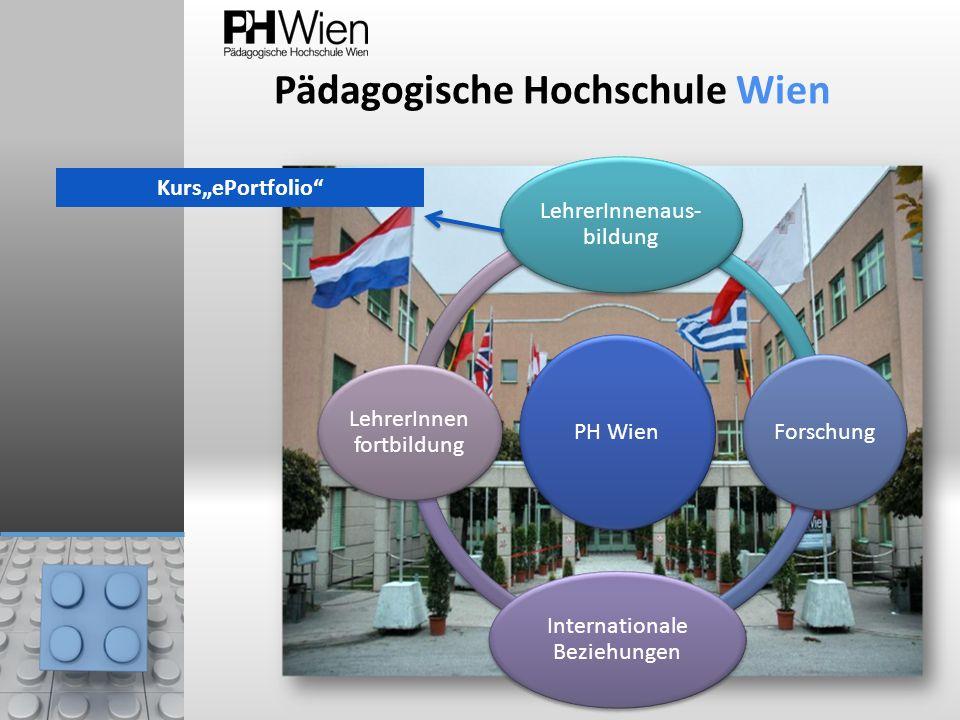 Pädagogische Hochschule Wien PH Wien LehrerInnenaus- bildung Forschung Internationale Beziehungen LehrerInnen fortbildung KursePortfolio