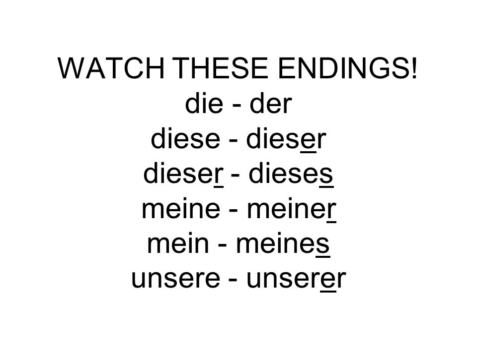WATCH THESE ENDINGS.