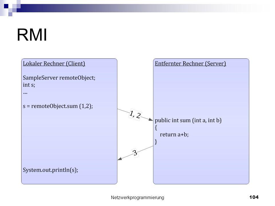 RMI Netzwerkprogrammierung 104