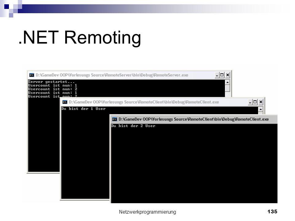 .NET Remoting Netzwerkprogrammierung 135