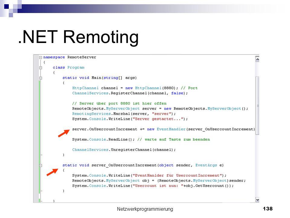 .NET Remoting Netzwerkprogrammierung 138