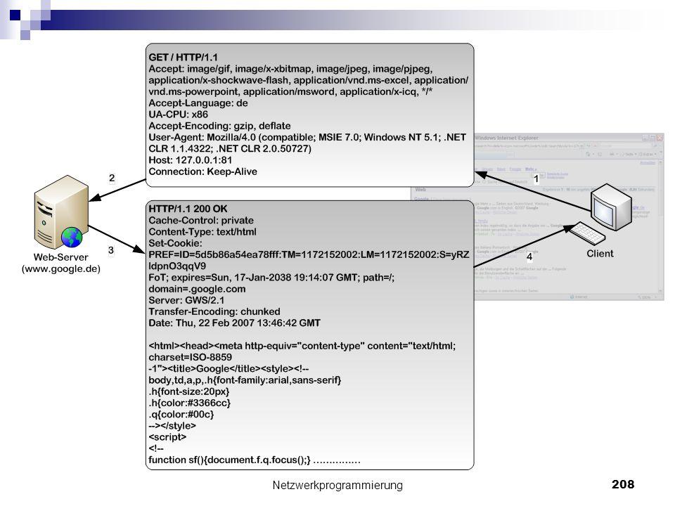 Netzwerkprogrammierung 208