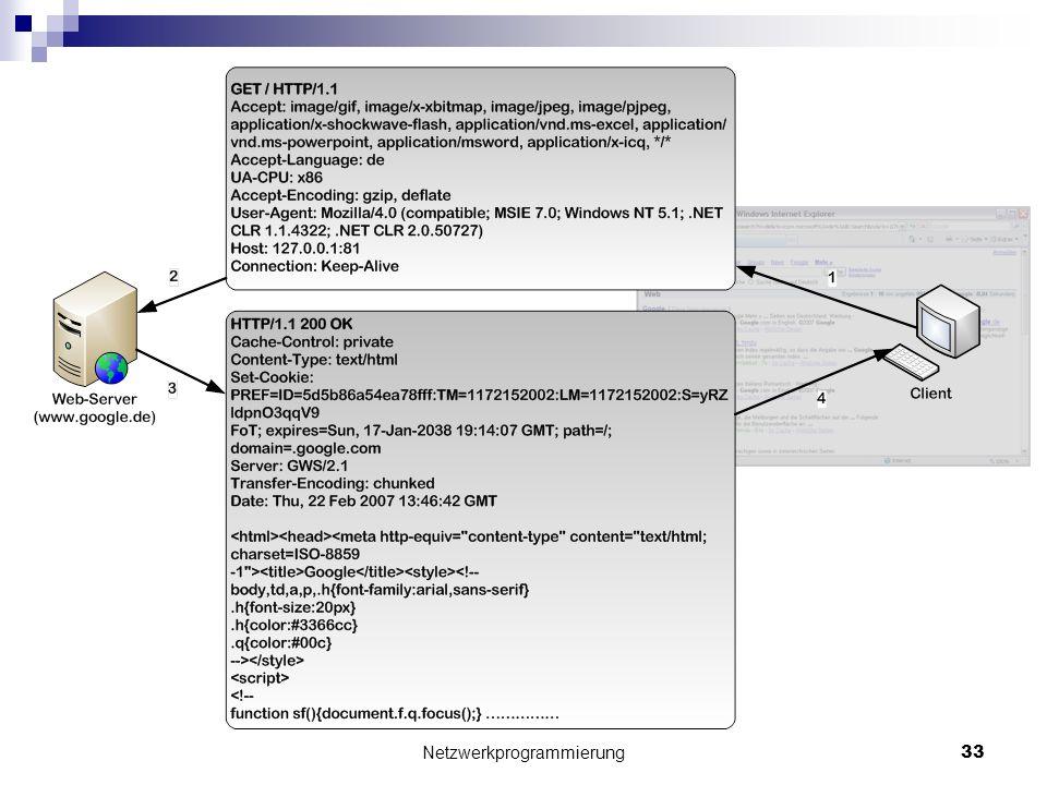 Netzwerkprogrammierung 33