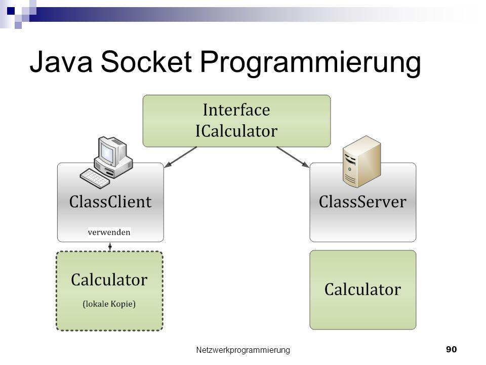 Java Socket Programmierung Netzwerkprogrammierung 90