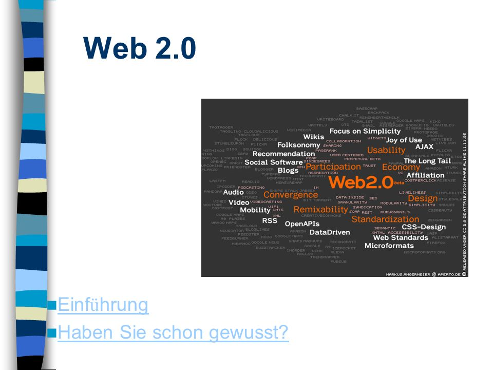 Einf ü hrung Einf ü hrung Haben Sie schon gewusst Foto: cc-by-sa 2.0/de Markus Angermeier Web 2.0