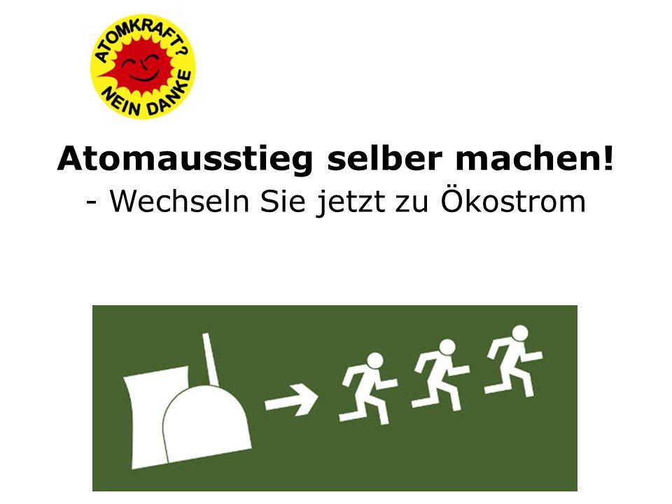 9 Atomkraftwerke sind in Deutschland noch am Netz (Besitzer: E.ON, EnBW, RWE)