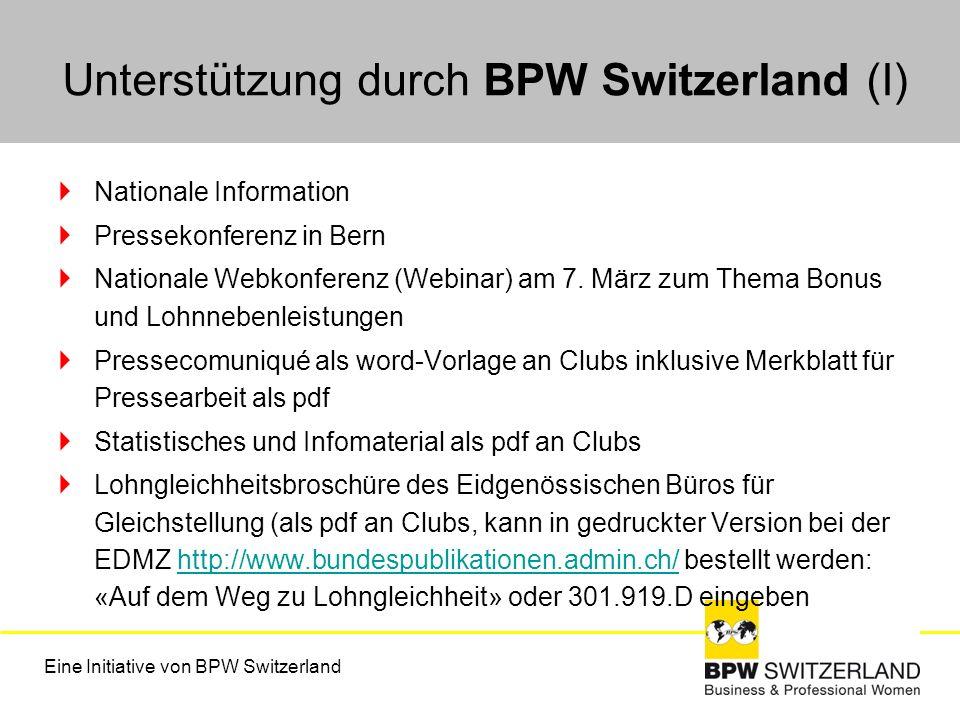 Nationale Information Pressekonferenz in Bern Nationale Webkonferenz (Webinar) am 7. März zum Thema Bonus und Lohnnebenleistungen Pressecomuniqué als