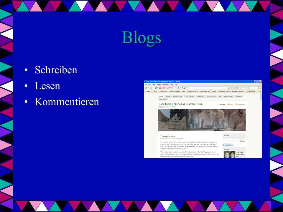Blogs Schreiben Lesen Kommentieren
