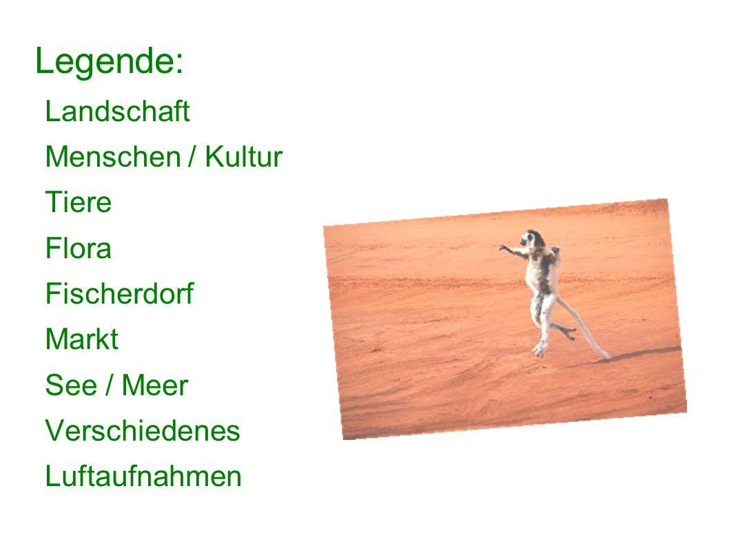Legende: Landschaft Menschen / Kultur Tiere Flora Fischerdorf Markt See / Meer Verschiedenes Luftaufnahmen