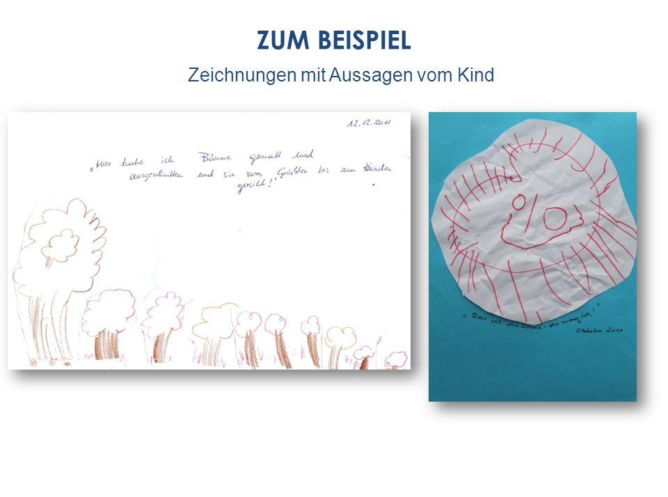 ZUM BEISPIEL Zeichnungen mit Aussagen vom Kind