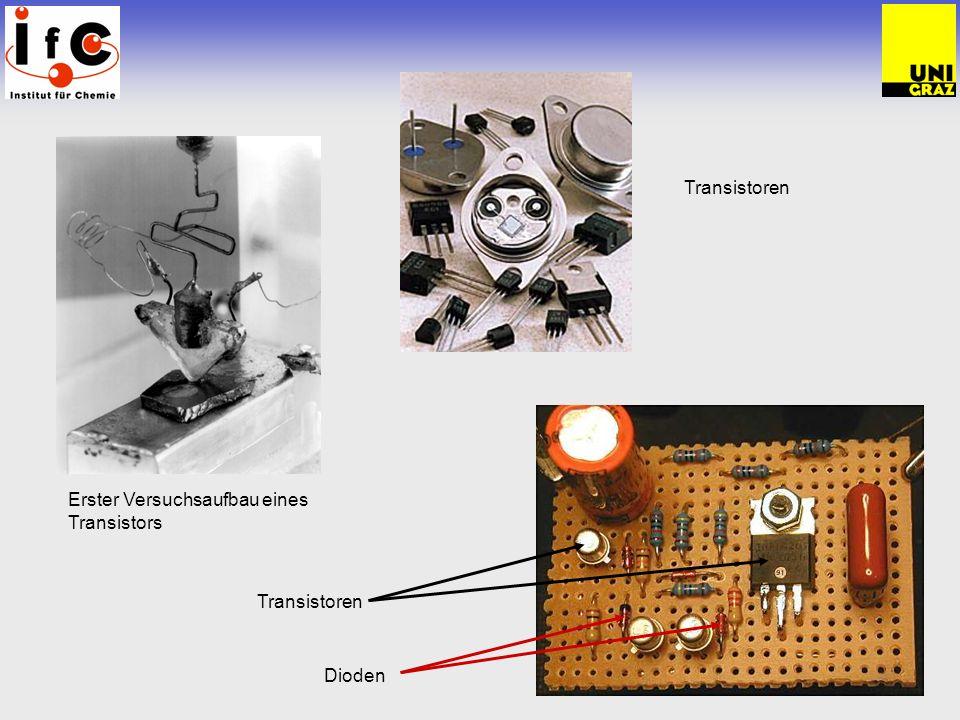 Erster Versuchsaufbau eines Transistors Transistoren Dioden