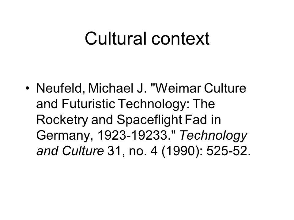 Cultural context Neufeld, Michael J.