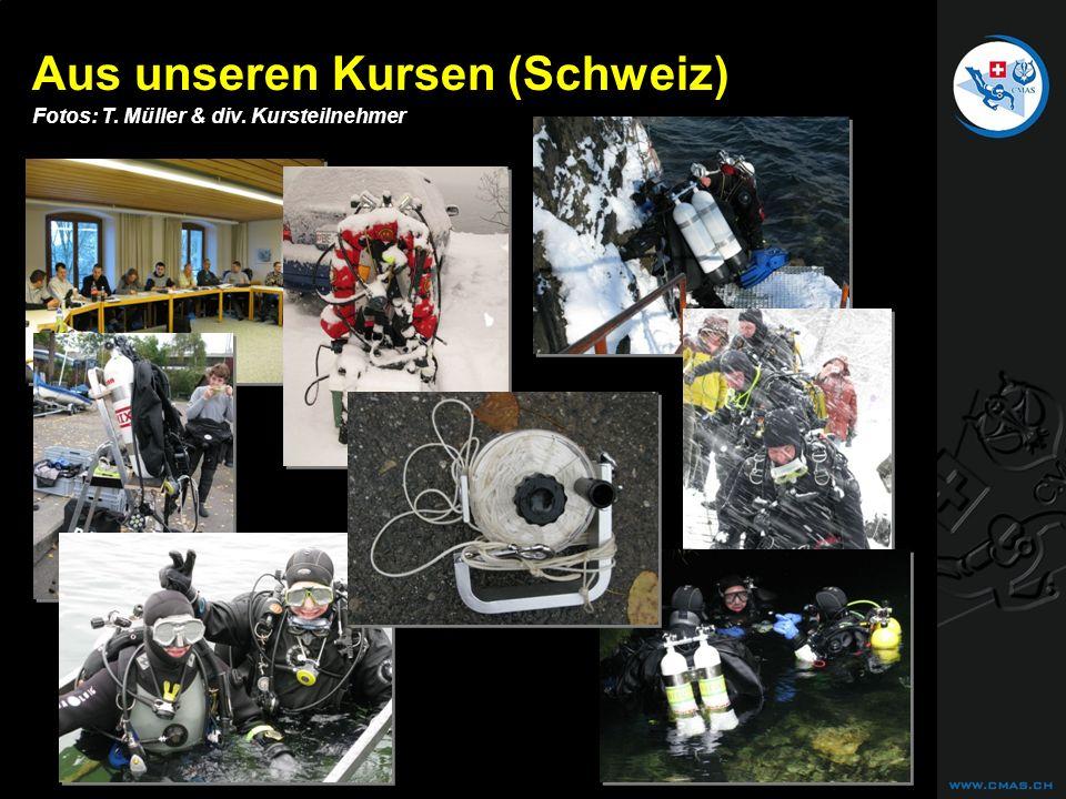 CAVE DIVING Aus unseren Kursen (Schweiz) Fotos: T. Müller & div. Kursteilnehmer