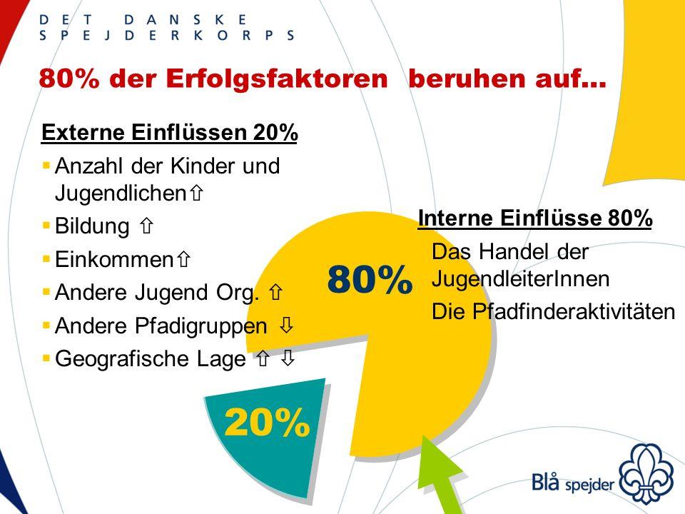 80% der Erfolgsfaktoren beruhen auf… 80% 20% Externe Einflüssen 20% Anzahl der Kinder und Jugendlichen Bildung Einkommen Andere Jugend Org.