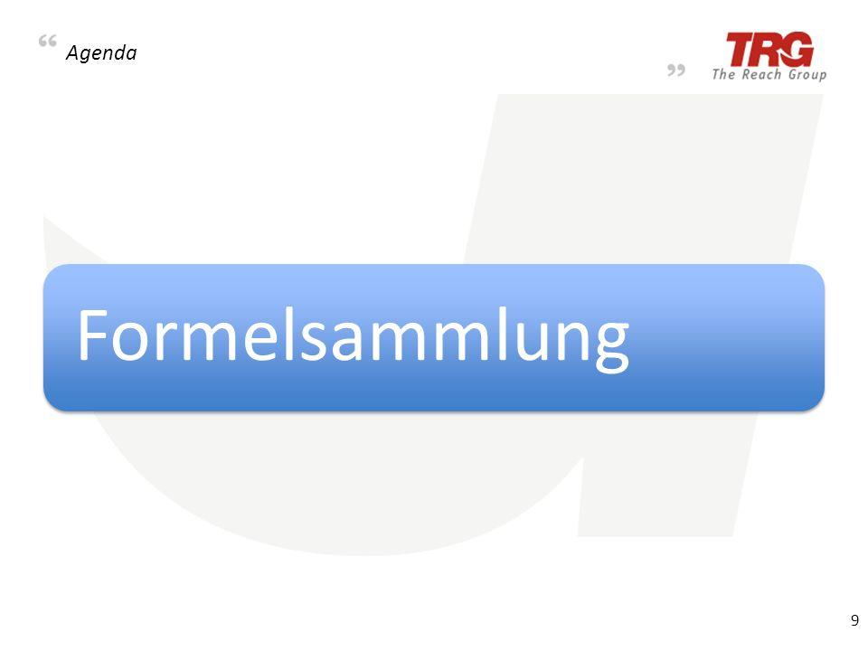 Agenda Formelsammlung 9