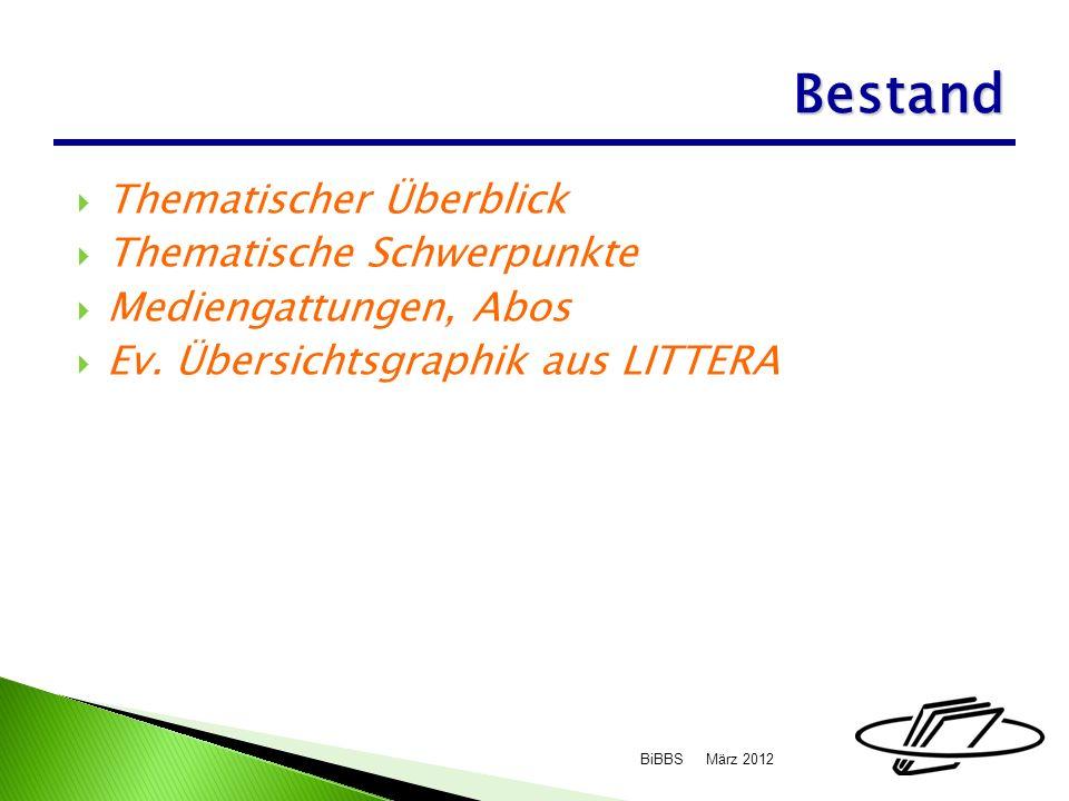 Thematischer Überblick Thematische Schwerpunkte Mediengattungen, Abos Ev.