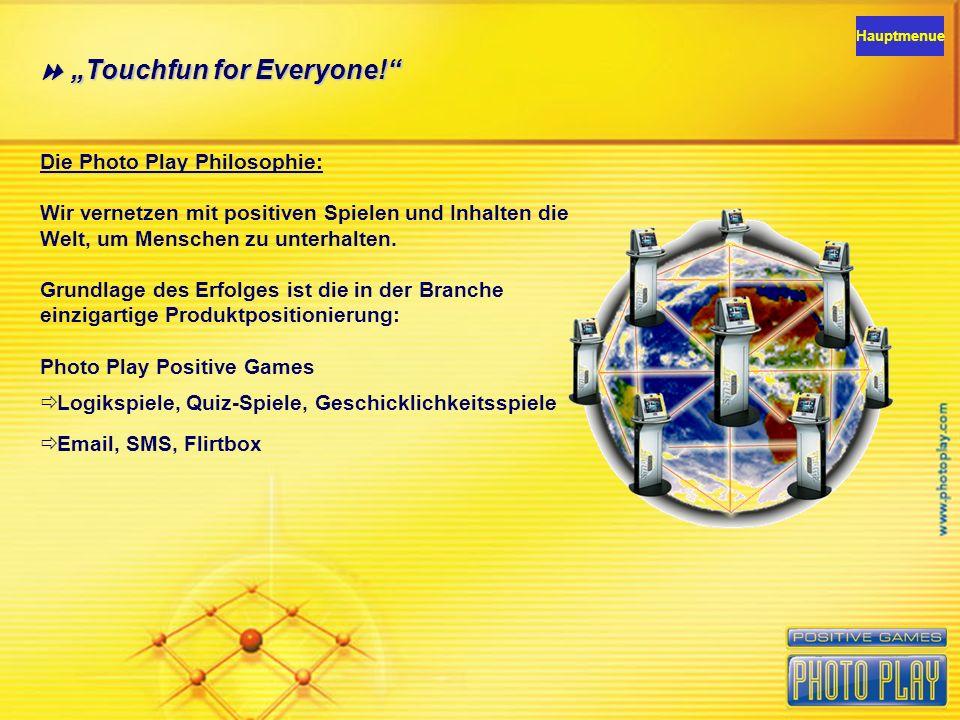Das Photo Play NET ist das weltweit größte Touchscreen Netzwerk.