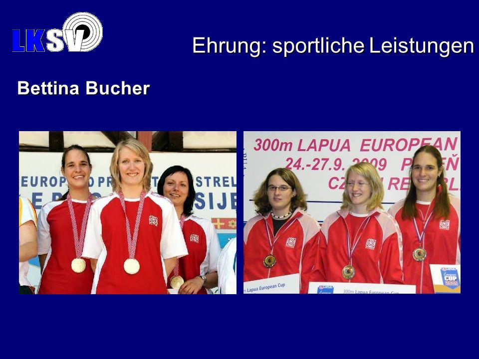 Ehrung: sportliche Leistungen Bettina Bucher
