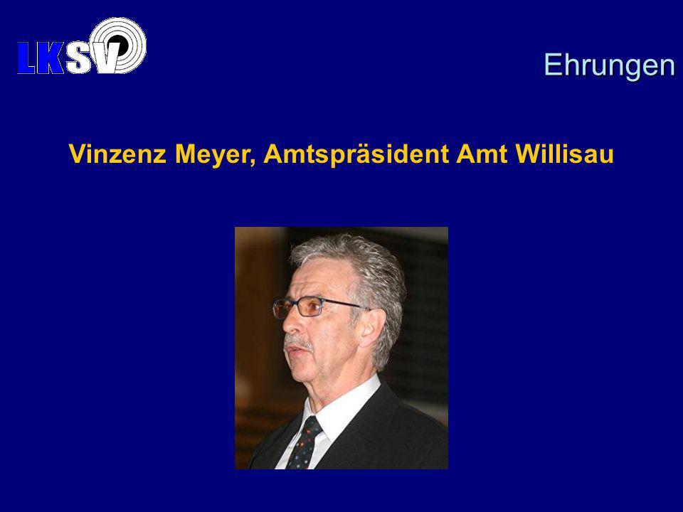 Vinzenz Meyer, Amtspräsident Amt Willisau Ehrungen