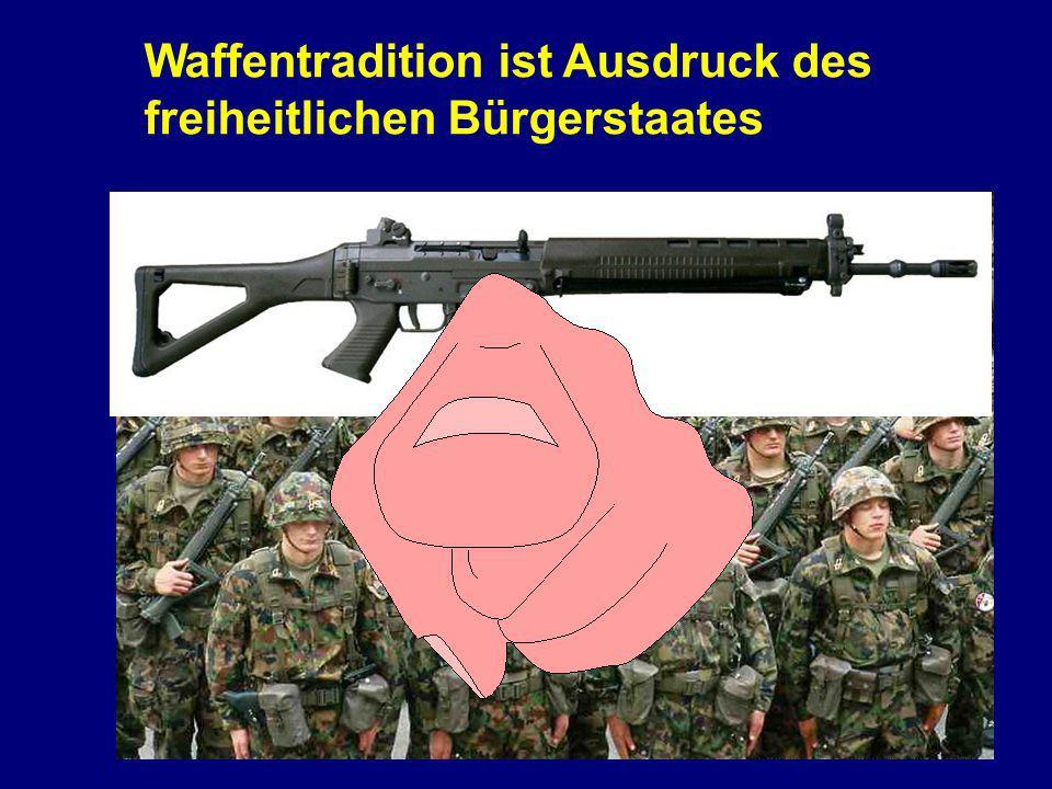 Waffentradition ist Ausdruck des freiheitlichen Bürgerstaates