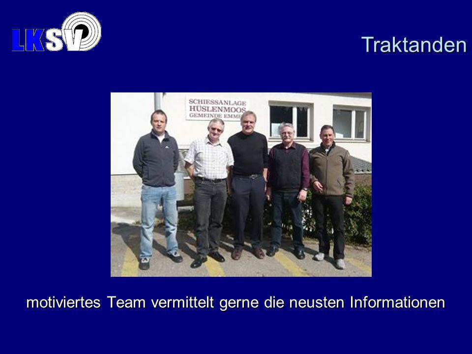 motiviertes Team vermittelt gerne die neusten Informationen Traktanden