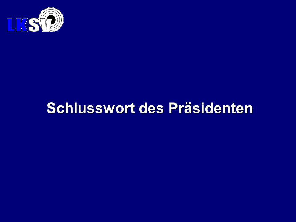 Schlusswort des Präsidenten