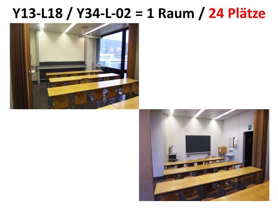 Y13-L18 / Y34-L-02 = 1 Raum / 24 Plätze