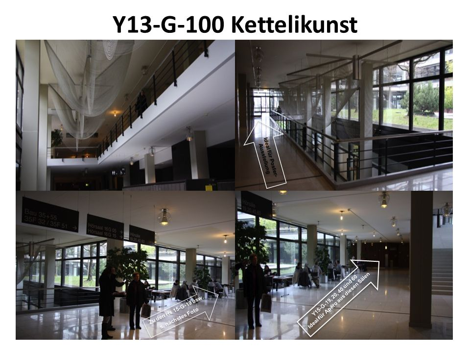 Y13-G-100 Kettelikunst Zu den Hs 15-G-19 usw. s. nächstes Foto Ideal für Poster- Ausstellung Y15-G-19, 20, 40 und 60 Ideal für Apéro aus diesen Sälen