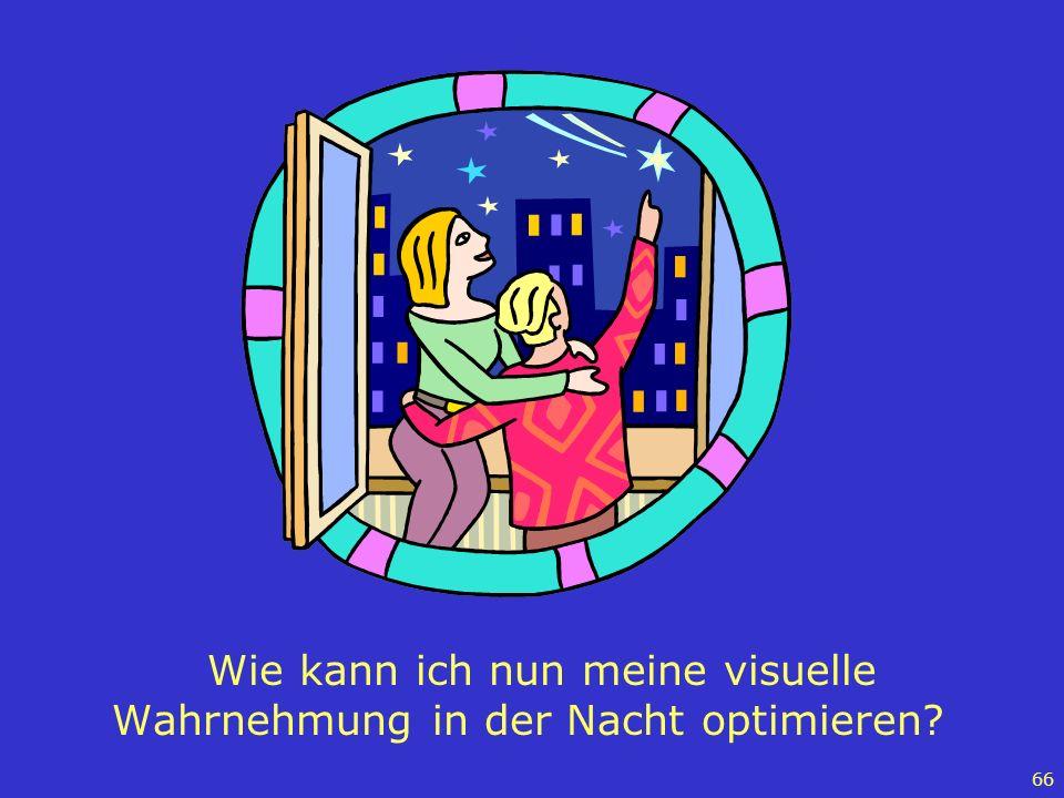66 Wie kann ich nun meine visuelle Wahrnehmung in der Nacht optimieren?