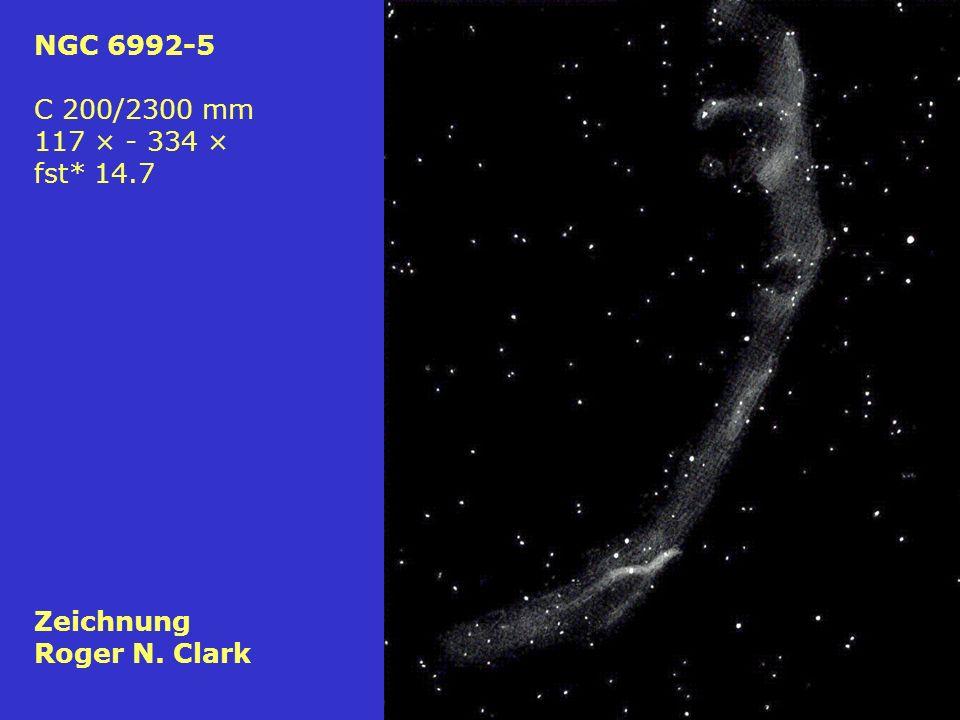 73 NGC 6992-5 C 200/2300 mm 117 × - 334 × fst* 14.7 Zeichnung Roger N. Clark