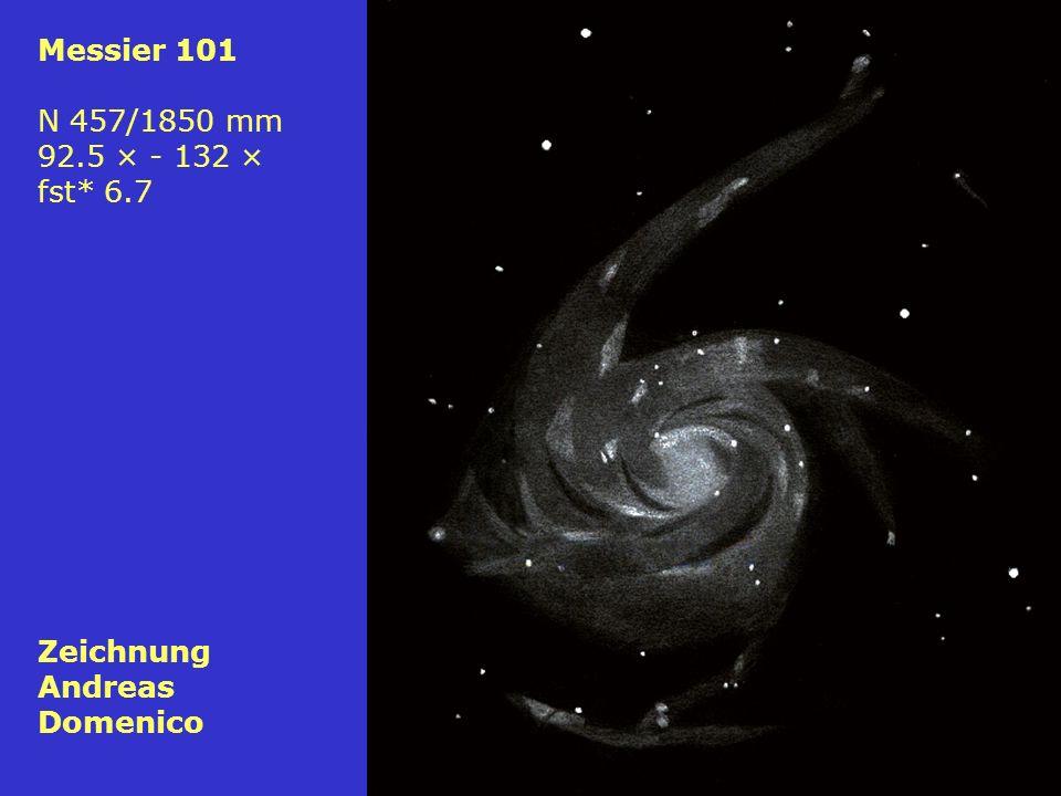 77 Messier 101 N 457/1850 mm 92.5 × - 132 × fst* 6.7 Zeichnung Andreas Domenico