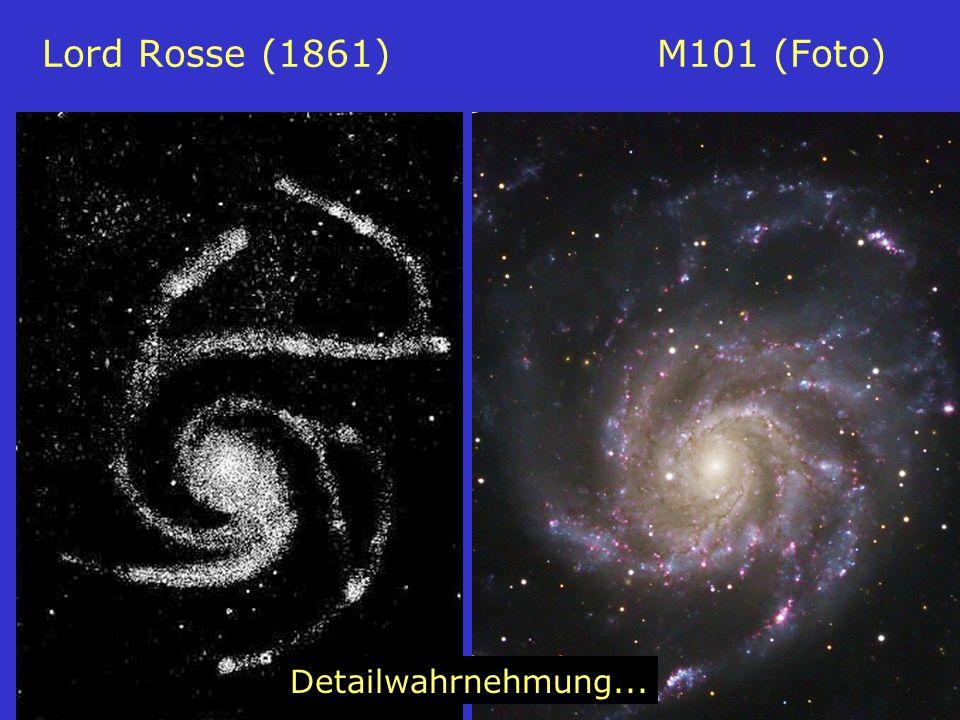 9 Lord Rosse (1861) M101 (Foto) Detailwahrnehmung...