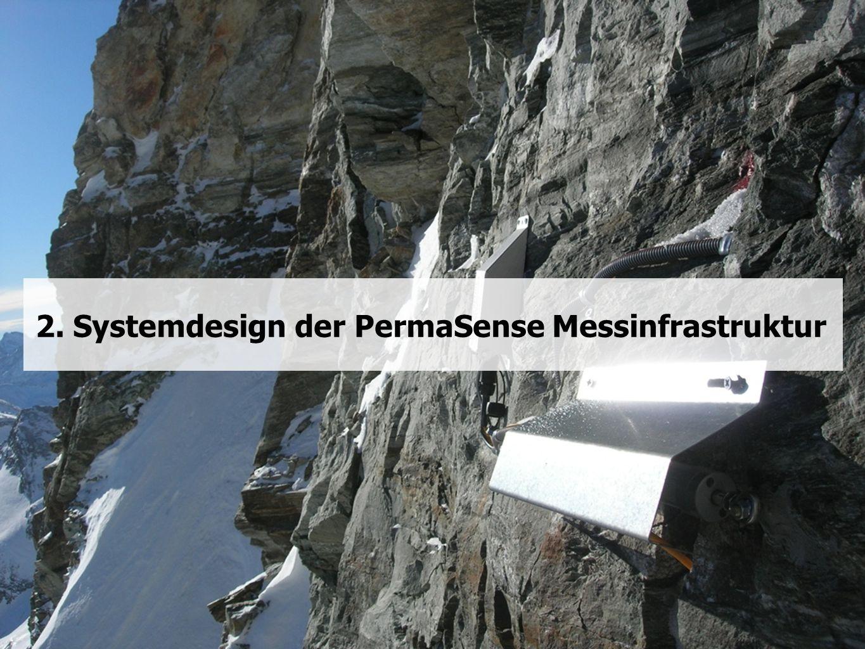 2. Systemdesign der PermaSense Messinfrastruktur