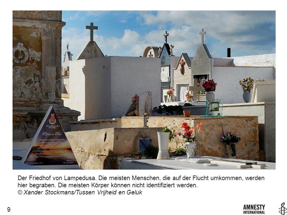 9 Der Friedhof von Lampedusa.