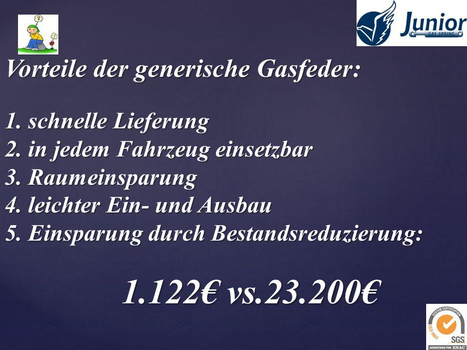 Vorteile der generische Gasfeder: 1. schnelle Lieferung 2.
