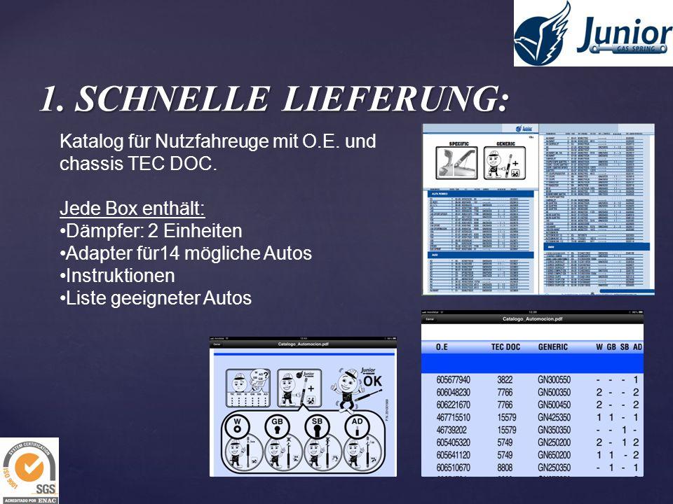 1. SCHNELLE LIEFERUNG: Katalog für Nutzfahreuge mit O.E. und chassis TEC DOC. Jede Box enthält: Dämpfer: 2 Einheiten Adapter für14 mögliche Autos Inst