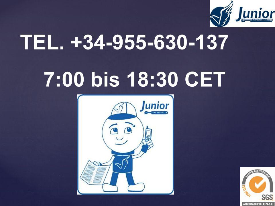 TEL. +34-955-630-137 7:00 bis 18:30 CET