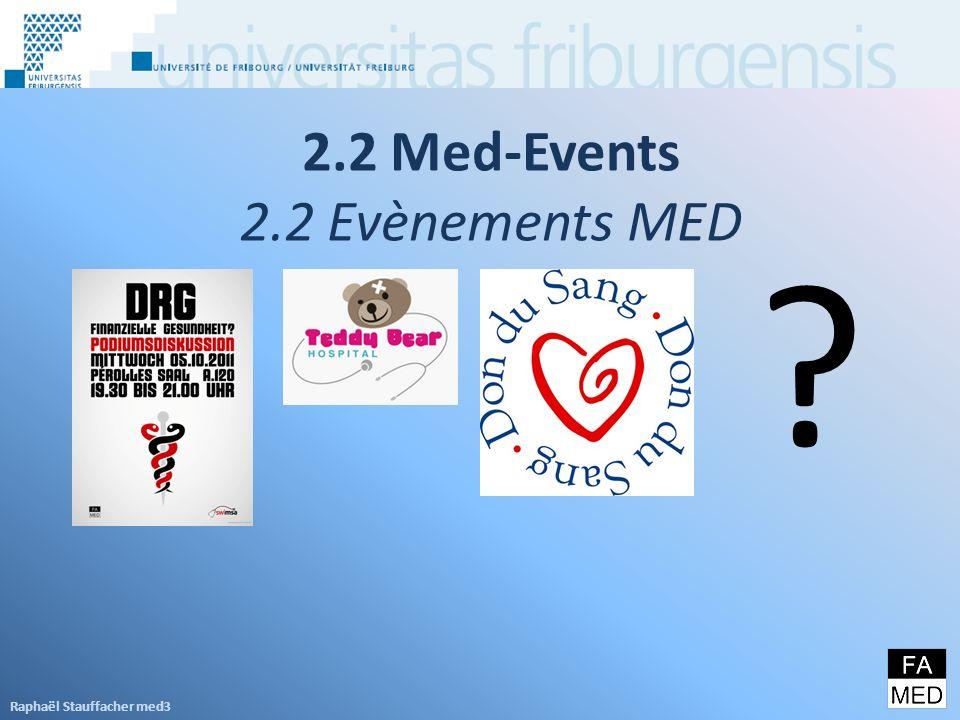 2.2 Med-Events 2.2 Evènements MED Raphaël Stauffacher med3