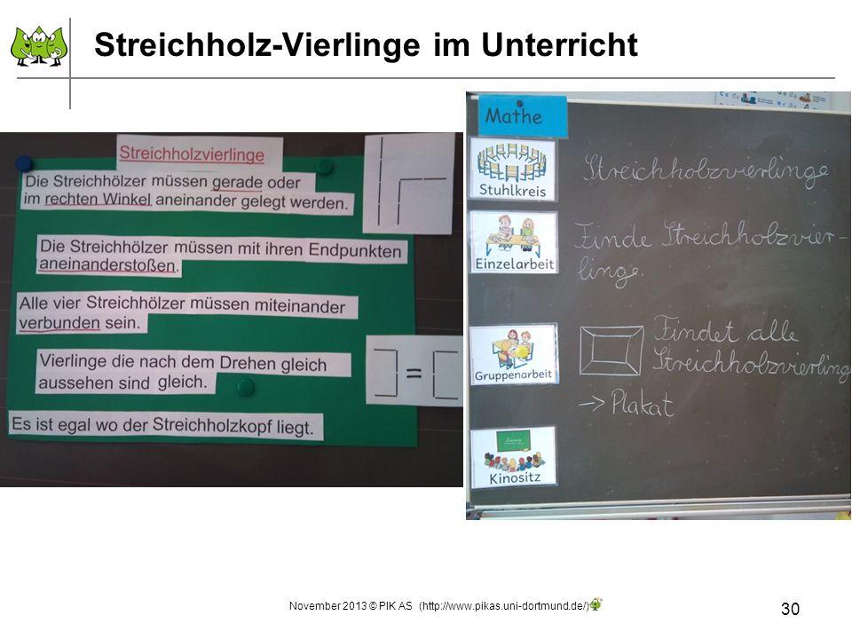 Streichholz-Vierlinge im Unterricht 30 November 2013 © PIK AS (http://www.pikas.uni-dortmund.de/)
